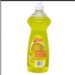 12 Units of First Force Lemon Dish Liquid 32 Ounce - Cleaning Supplies