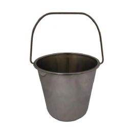 24 Units of Galllon Stainless Steel Bucket - Cleaning Supplies