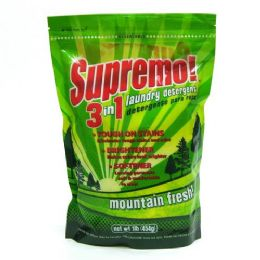 24 Units of Detergent Powder Supremo 3 In 1 Laundry Detergent Mountain Fresh - Laundry Detergent