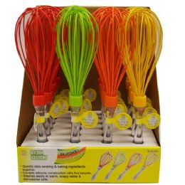 24 Units of Silicone Coated Wisk - Microwave Items