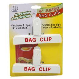48 Wholesale Jumbo Bag Clips 6 Inch