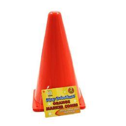 36 Units of Orange Marker Cones - 2 Ct. 2pc Orange Marker Cones Reflects - Safety Helmets