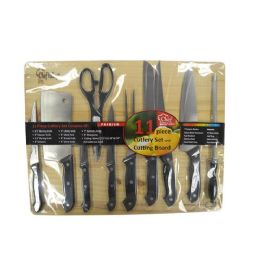 6 Units of 11 Piece Cutlery Set And Cutting Board - Cutting Boards