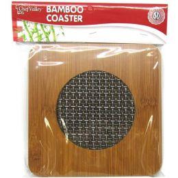 24 Units of Bamboo Heat Pad Square Shape - Coasters & Trivets