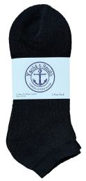 240 Units of Yacht & Smith Men's No Show Ankle Socks, Cotton. Size 10-13 Black Bulk Buy - Men's Socks for Homeless and Charity
