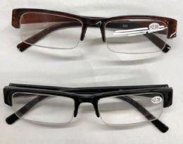 120 Bulk Assorted Colors And Power Lens Rimless Plastic Reading Glasses Bulk Buy