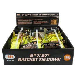 6 Units of Ratchet Tie With J Hooks - Ratchets