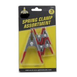 24 Units of Spring Clamp Assortment 5 Pack. 4 Small 1 Medium - Clamps