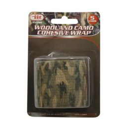 24 Units of Woodland Camo Cohesive 5 Yards - Tape & Tape Dispensers