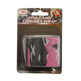 24 Units of Pink Camo Cohesive Wrap - Tape & Tape Dispensers