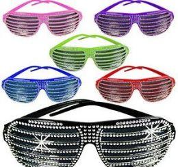 144 Wholesale Bling Shutter Shade Sunglasses