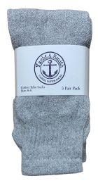 240 Units of Yacht & Smith Kids Solid Tube Socks Size 6-8 Gray Bulk Buy - Kids Socks for Homeless and Charity
