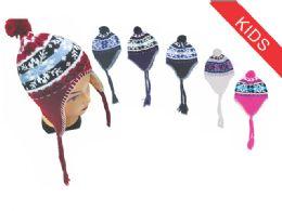72 Bulk Kid's Snowflake Helmet Hat