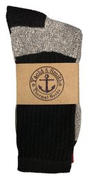 24 Units of Yacht & Smith Womens Cotton Thermal Crew Socks, Cold Weather Boot Sock, Size 9-11 - Womens Thermal Socks