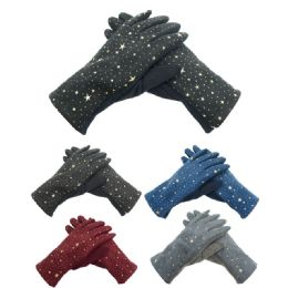 72 Units of Lady's Touch Star Gloves - Conductive Texting Gloves