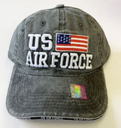 24 Wholesale Us Air Force Base Ball Cap (assorted Color)