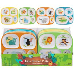 48 Units of Dinnerware Kids 4 Section - Plastic Dinnerware