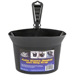 24 Units of Auto Waste Basket With Adjustable Hanging Strap - Auto Accessories