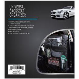 24 Units of Universal Backseat Organizer - Auto Sunshades and Mats