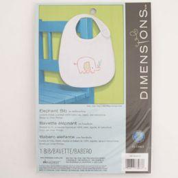 36 Wholesale Craft Kit Cross Stitch Dimensions Elephant Bib