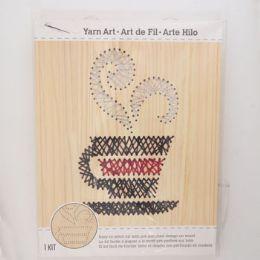 12 Wholesale Craft Kit Java Stitch Art Wood Wall Decor