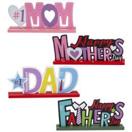 24 Wholesale Mom Dad Tabletop Greetings