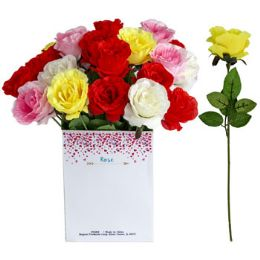 36 Units of Rose Long Stem - Artificial Flowers