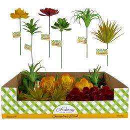 48 Units of Succulent Pick - Artificial Flowers