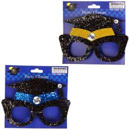 48 Units of Grad Glasses Glittered Cap - Graduation