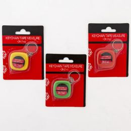 48 Units of Tape Measure Keychain - Tape Measures and Measuring Tools
