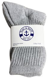 240 Units of Yacht & Smith Kids Cotton Crew Socks Gray Size 6-8 - Kids Socks for Homeless and Charity