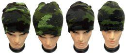36 Units of Winter Skull Cap Ski Cap Camo Color - Winter Beanie Hats