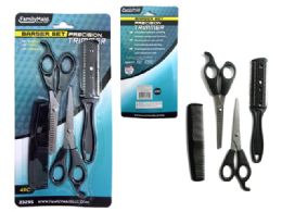 144 Units of 4 Piece Barber Hair Cut Set - Hair Products
