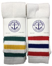 240 Units of Yacht & Smith King Size Men's 31-Inch Terry Cushion Cotton Extra Long Tube SockS- Size 13-16 - Men's Socks for Homeless and Charity