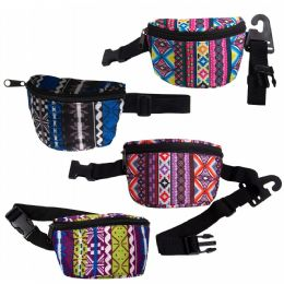 24 Units of Bulk Fanny Packs Belt Bags In 4 Assorted Colors - Fanny Pack
