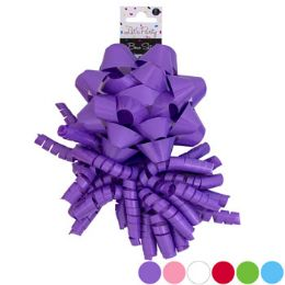 36 Units of Bow Set 2pk Star & Curly Solid 6ast Shiny Varnish Colors - Event Planning Gear