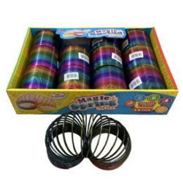 "36 Wholesale 3"" Magic Spring Toy [shiny Rainbow]"
