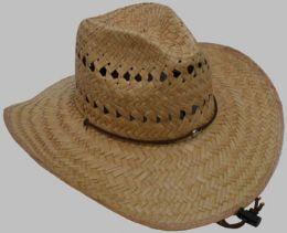 25 Wholesale Men's Straw Cowboy Hat