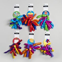 72 Units of Bow Curly Jumbo With Birthday Tag - Gift Wrap