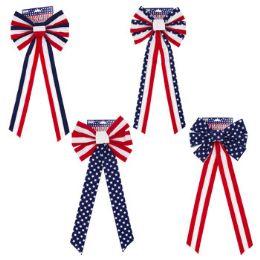 48 Bulk Bow Patriotic Velvet