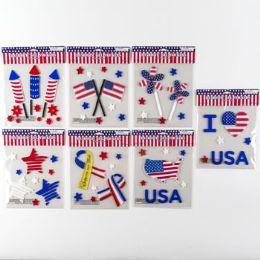 96 Bulk Gel Stickers Patriotic