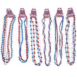 36 Bulk Necklace Patriotic