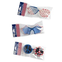 48 Bulk Patriotic Glasses Assorted