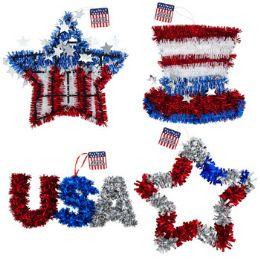 24 Bulk Tinsel Decor Patriotic