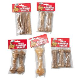 120 Units of Dog Chew Rawhide Natural - Pet Chew Sticks and Rawhide
