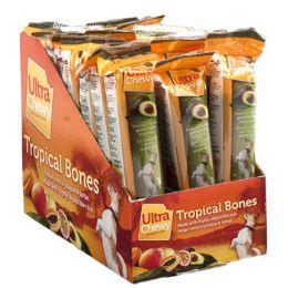 24 Units of Dog Treat Ultra Chewy Tropical Bone Avocado - Pet Chew Sticks and Rawhide