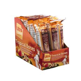 24 Units of Dog Treat Ultra Chewy Tropical Bone Passion Fruit - Pet Chew Sticks and Rawhide