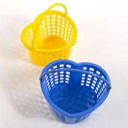 100 Units of Heart Hanging Basket Plastic Assorted Colors - Baskets