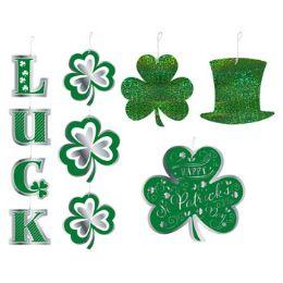 48 Units of Cutouts Saint Patrick Hanging Shamrocks Hat - St. Patricks