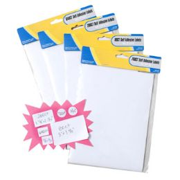 48 Units of Labels Self Stick White Blank - Labels